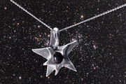Solid Silver Star Meteorite Necklace